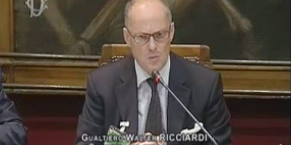 Walter Ricciardi: Un Uomo Colto, Risoluto E Coraggioso. Non Certo Un Burocrate