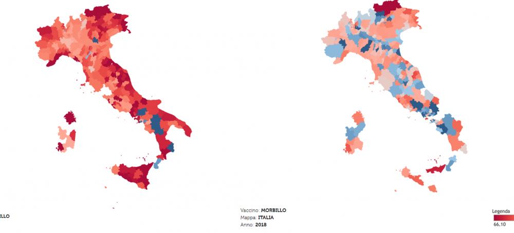 Su Wired La Mappa Delle Coperture Vaccinali In Italia