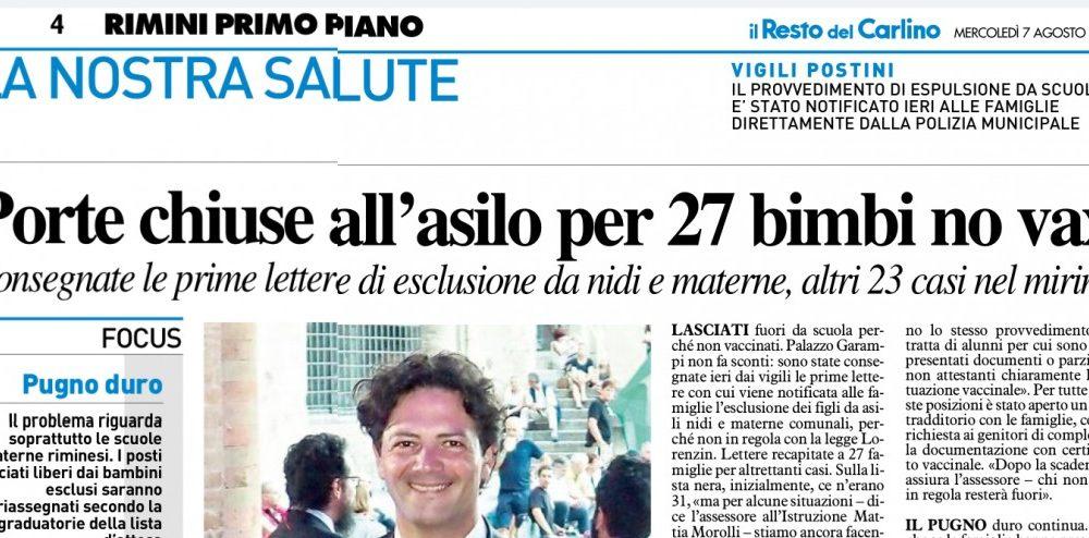 A Rimini 27 Bambini Esclusi Dall'asilo Perché Non Vaccinati