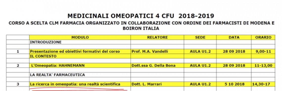 Università Modena e Boiron