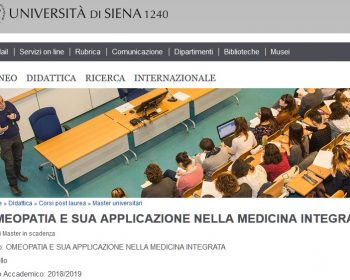 Omeopatia All'Università Di Siena