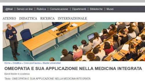 Omeopatia All'Università Di Siena