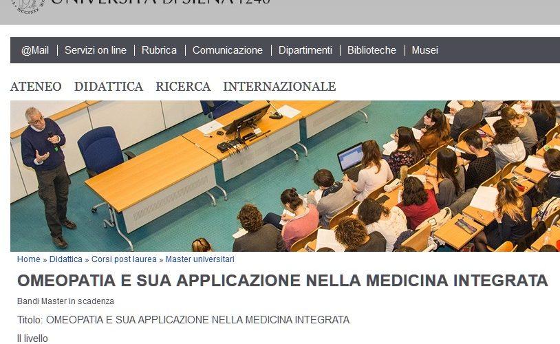 Omeopatia: Un Master Assurdo All'Università Di Siena