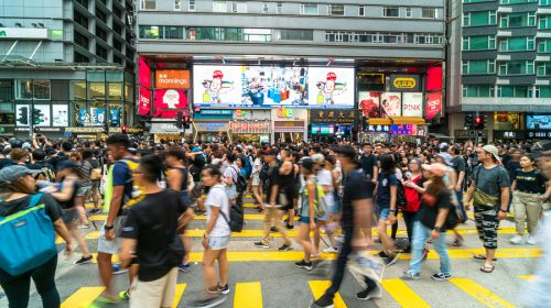 Manifestazione A Hong Kong